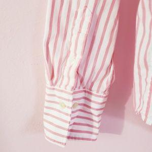 Chaps Tops - Chaps Vertical Stripe Buttons Down Shirt Size L
